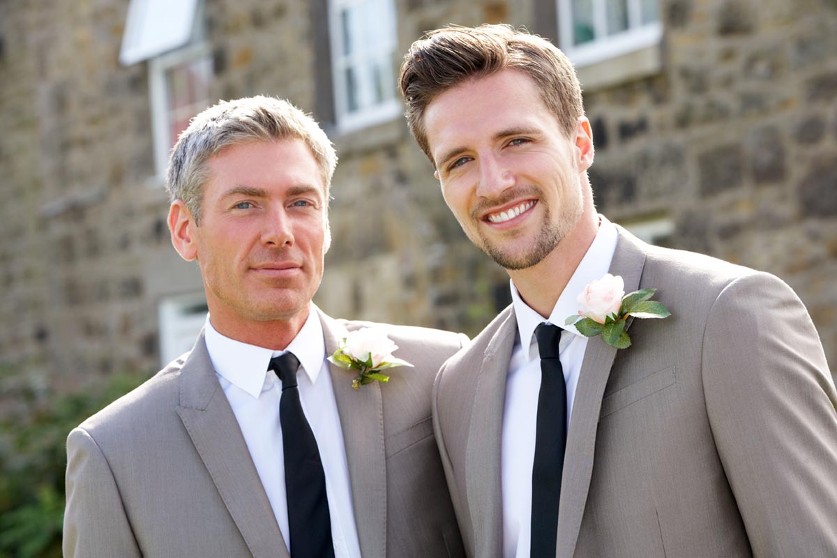 Image of a gay couple getting married